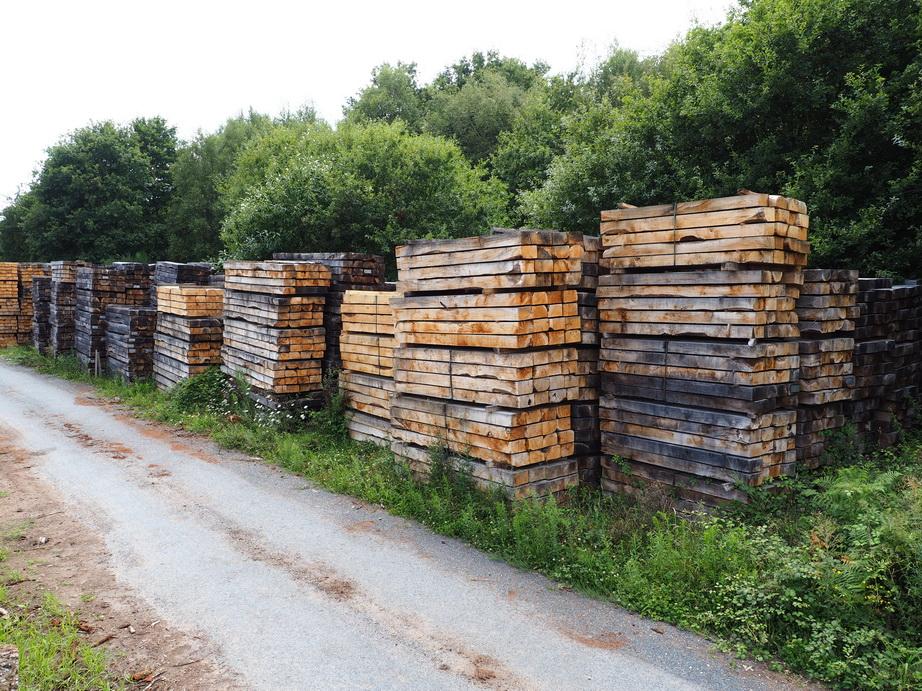 Maderas torreira fabricaci n de traviesas de madera para - Traviesas de madera ...